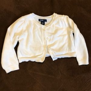 White knit infant sweater